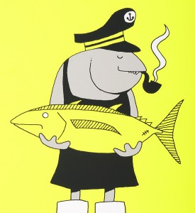 Grotesk Fisherfish screen print limited edition serigraphie artwork Kimou Meyer detail_4