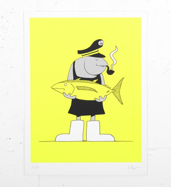 Grotesk Fisherfish screen print serigraphie limited edition artwork Kimou Meyer_1