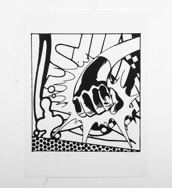 John Matos Crash Art of the line screen print serigraphie oeuvre dart artwork 2008 graffiti_1