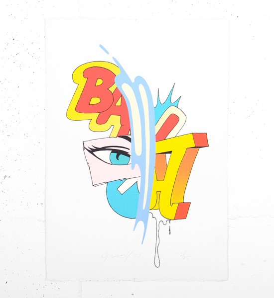 John Matos Crash Blue stroke screen print serigraphie oeuvre d art artwork 2001 graffiti_1