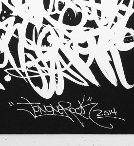Jonone no title black white oeuvre serigraphie screenprint 2014 signature artwork John Andrew Perello graffiti Jon156_3