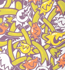 Mist Stay High Plantes carnivore serigraphie screen print artwork oeuvre detail artist graffiti_2