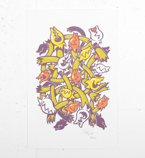 Mist Stay High Plantes carnivore serigraphie screen print limited edition artwork oeuvre artist graffiti_1