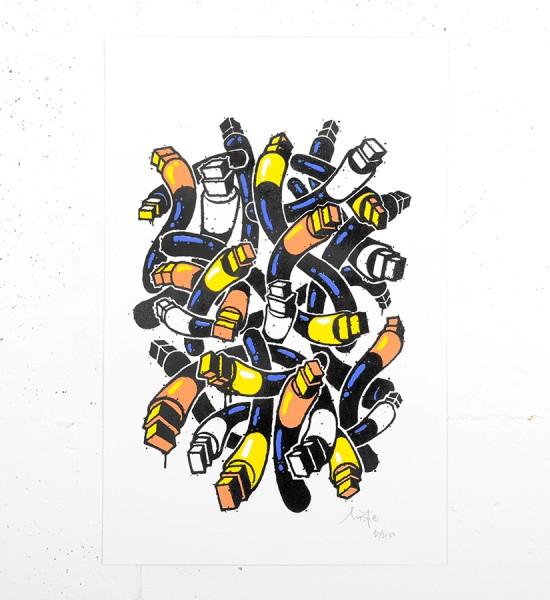 Mist magic tools posca serigraphie screenprint artwork oeuvre artist graffiti_1