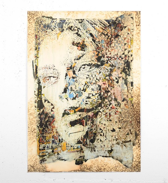 Vhils Alexandre Farto Contengency artwork print signed numbered underdogs edition aluminography enhanced
