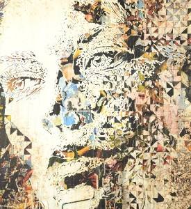 Vhils Alexandre Farto Contengency artwork print signed numbered underdogs edition aluminography enhanced detail_1