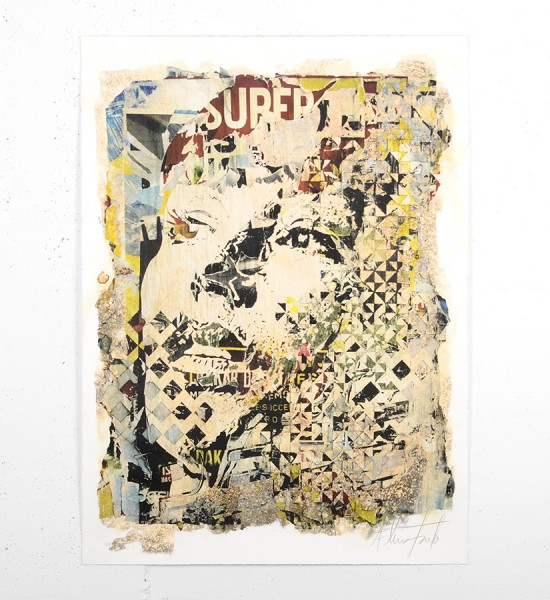 Vhils Alexandre Farto Deterioration artwork signed numbered underdogs aluminographie rehaussee