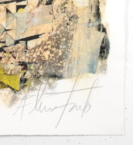 Vhils Alexandre Farto Deterioration artwork signed numbered underdogs aluminographie rehaussee signed by artist