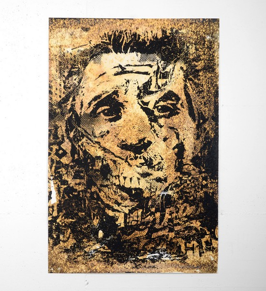 "Entitled ""Morphed"", this screen print is enhanced by Vhils is an edition of 100. Made in 2012, it is signed and numbered by the artist. Format : 47,2 x 31,5 inches (120 x 80 cm). The work is sold unframed."
