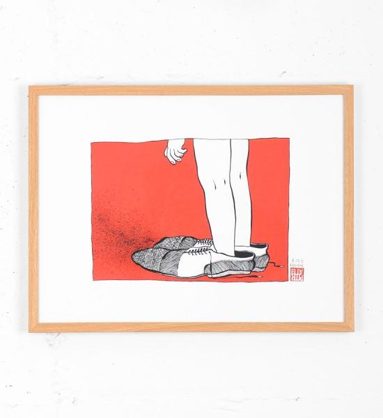 ella-et-pitr-lendemain-de-fete-2eme-partie-serigraphie-oeuvre-edition-limitee-signee-numerotee-papiers-peintres-framed