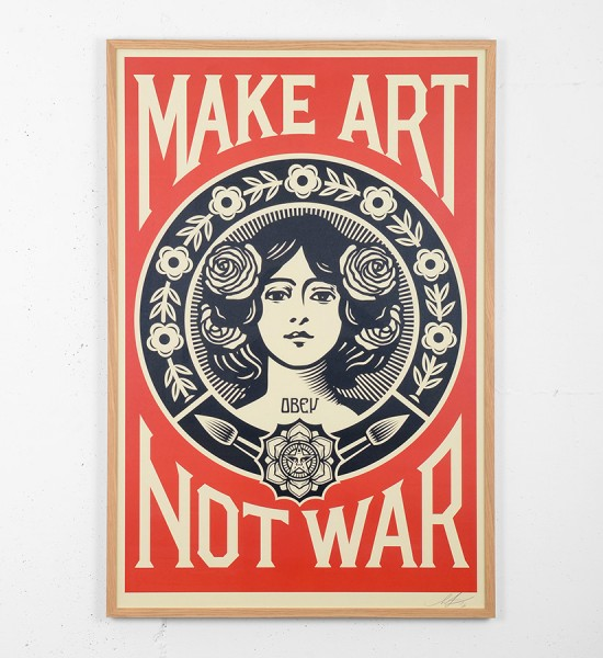 obey-shepard-fairey-make-art-not-war-offset-print-oeuvre-artwork-obey-giant-framed
