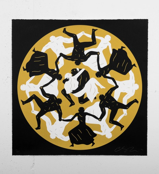 cleon-peterson-endless-sleep-black-screen-print-serigraphie-paris-tour-eiffel-dance-love