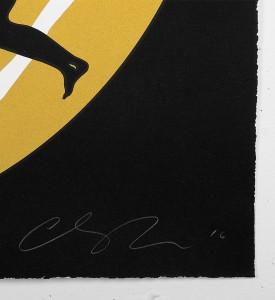 cleon-peterson-endless-sleep-black-screen-print-serigraphie-paris-tour-eiffel-dance-love-signature