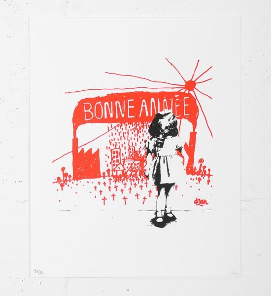 dran-bonne-annee-serigraphie-screen-print-2006-oeuvre-art-toulouse-dmv