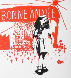 dran-bonne-annee-serigraphie-screen-print-2006-oeuvre-art-toulouse-dmv-detail-1