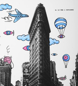 Andre Saraiva le fer a repasser flatiron building New York artwork screen print oeuvre serigraphie detail 2