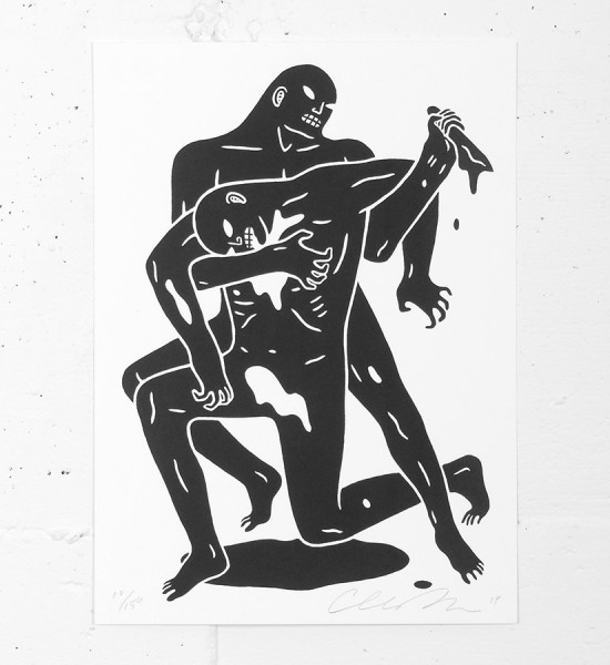 "Entitled ""Evil"", this screen print by Cleon Peterson is an edition of 150. Made in 2014, it is signed and numbered by the artist. Format : 8 x 11 inches (20,3 x 27,9 cm). The work is sold unframed."