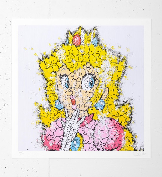 "Entitled ""Peach"", this giclee print by Tilt is an edition of 100 + 15 artist's proof. Made in august 2012, it is signed and numbered 100/100 by the artist. Format : 17 x 17 inches (43 x 43 cm). The work is sold unframed."