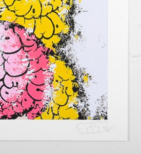 Tilt Peach giclee print artwork impression oeuvre signature