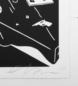cleon peterson junky white artwork screen print signed artist