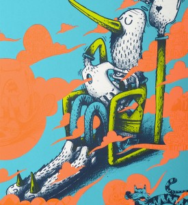 Alexone Alexandre Dizac Air Cello artwork screen print oeuvre art serigraphie detail 1