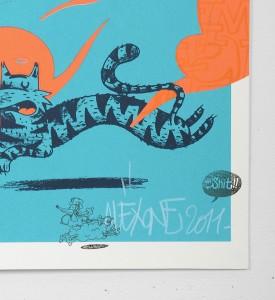 Alexone Alexandre Dizac Air Cello artwork screen print signature signed 2011
