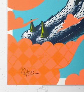 Alexone Alexandre Dizac Air Cello oeuvre art serigraphie edition limitee 30