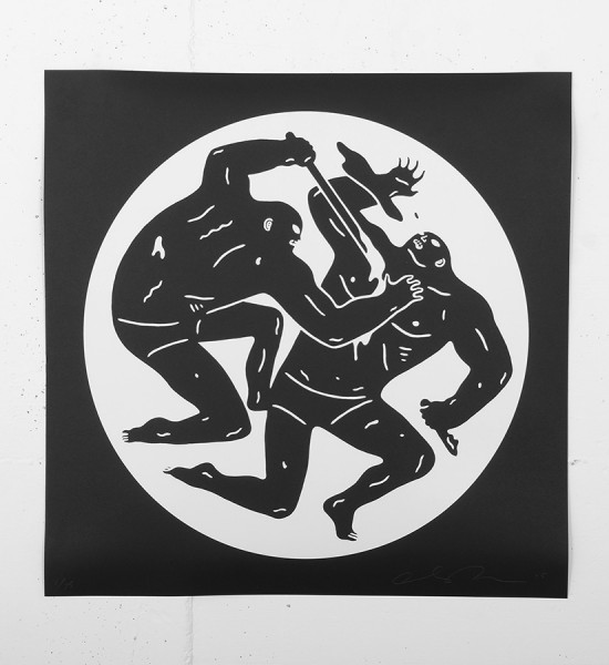 "Entitled ""Destroying the Weak 2"", this screen print by Cleon Peterson is an edition of 75. Made in 2015, it is signed and numbered by the artist. Format : 20 x 20 inches (50,8 x 50,8 cm). The work is sold unframed."