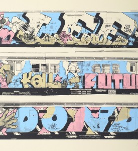 Henry Chalfant Lee Kell Futura Dondi artwork screen print oeuvre art serigraphie detail 1