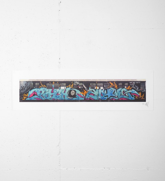 This print by Seen is an edition of 50. It is signed and numbered by the artist. Format : 40 x 11,2 inches (101,8 x 28,7 cm). The work is sold unframed.