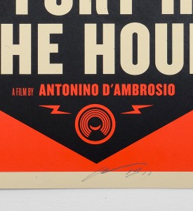 Shepard Fairey Obey Giant Let fury have the hour Film Poster screen print artwork oeuvre art 2013 detail 1 signature Antonio Dambrosio
