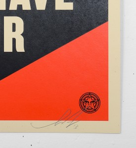Shepard Fairey Obey Giant Let fury have the hour Film Poster screen print artwork oeuvre art 2013 signed signature