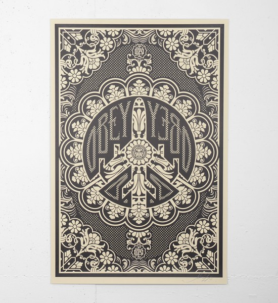 "Entitled ""Peace bomber (offset)"", this offset print by Shepard Fairey (Obey) is an open edition. Made in april 2009 it is signed by the artist. Format : 24 x 35,8 inches (61 x 91 cm). The work is sold unframed."