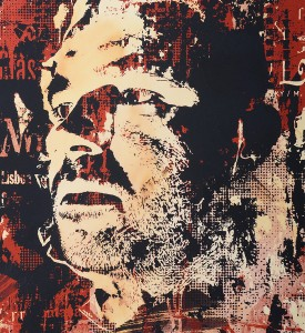 Vhils Alexandre Farto Corpocracy artwork enhanced screen print oeuvre art serigraphie rehaussee detail 1