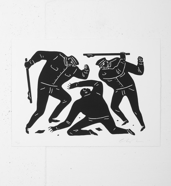 "Entitled ""Civil rights"" (black version), this screen print by Cleon Peterson is an edition of 100. Made in 2015, it is signed and numbered by the artist. Format : 16 x 22 inches (40,6 x 55,8 cm). The work is sold unframed."