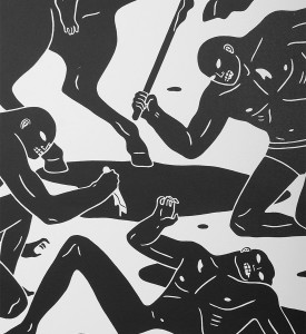 Cleon Peterson dark rider screen print artwork serigraphie oeuvre buy art detail 1