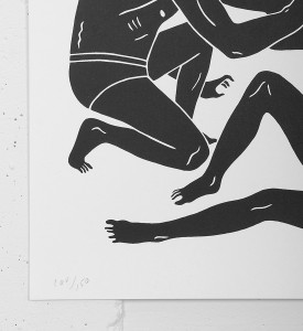 Cleon Peterson dark rider screen print artwork serigraphie oeuvre buy art detail 2 numbered edition 150