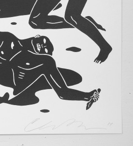 Cleon Peterson dark rider screen print artwork serigraphie oeuvre buy art detail 3 signature