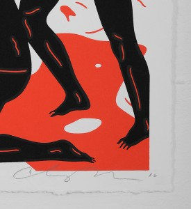 Cleon Peterson Burning The Dead red rouge artwork screen print serigraphie oeuvre art signature signed 2016