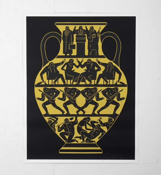 "Entitled ""Trump 2017"" (black, platinum version), this screen print by Cleon Peterson is an edition of 175. Made in 2017, it is signed and numbered by the artist. Format : 36 x 27,5 inches (91,4 x 68,5 cm). The work is sold unframed."
