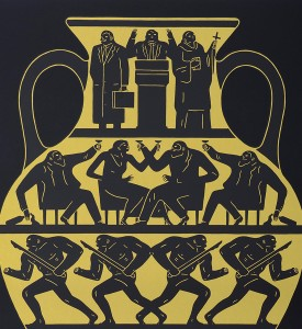 Cleon-Peterson-Trump-2017-black-platinum-noir-platine-screen-print-artwork-serigraphie-oeuvre-2017-edition-175 detail
