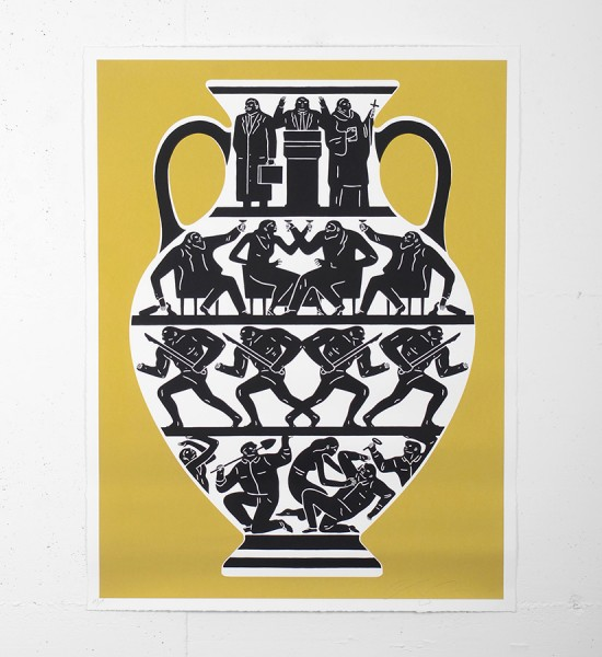 "Entitled ""Trump 2017"" (gold version), this screen print by Cleon Peterson is an edition of 175. Made in 2017, it is signed and numbered by the artist. Format : 36 x 27,5 inches (91,4 x 68,5 cm). The work is sold unframed."