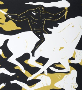 cleon peterson victory set gold red screen prints artworks oeuvres serigraphies 2016 edition 150 detail or