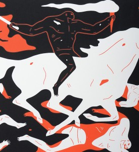 cleon peterson victory set gold red screen prints artworks oeuvres serigraphies 2016 edition 150 detail rouge