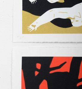 cleon peterson victory set gold red screen prints artworks oeuvres serigraphies 2016 edition 150 numbered