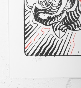 El Mac Miles MacGregor Amor y Arte artwork screen print oeuvre serigraphie 2017 edition 90 number