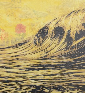Shepard Fairey Obey Giant dark wave artwork offset print oeuvre art 2017 open edition detail
