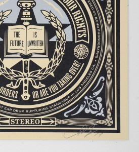 Shepard-Fairey-Obey-Giant-prints 52-screen-print-serigraphie-artwork-oeuvre-art edition 250 signature