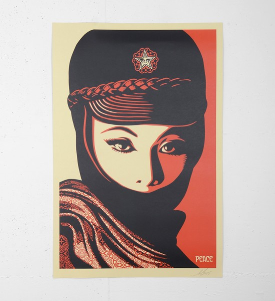 "Entitled ""Mujer fatale"", this offset print by Shepard Fairey (Obey) is an open edition. Made in 2017, it is signed by the artist. Format : 24 x 36 inches (60,9 x 91,4 cm). The work is sold unframed."