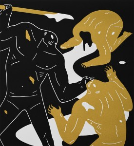 Cleon-Peterson-Violence-Print-Art-Black-Gold-4